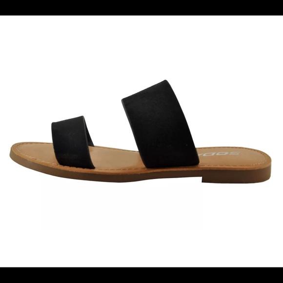 02c97608bc2 Soda Allie-S Women s Open Toe Double Strap Sandals